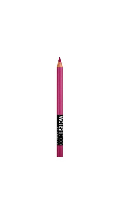 "<p><a href=""https://www.priceline.com.au/cosmetics/eyes/eye-liner/maybelline-color-show-crayon-kohl-eyeliner-1-2-g"" target=""_blank"">Color Show Crayon Kohl Eyeliner in Magic Magenta, $6.95, Maybelline NY</a></p>"