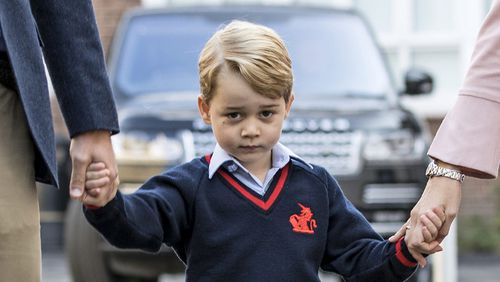The message allegedly included a photo of Prince George on his first day of school. (AAP)