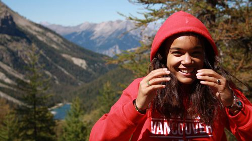 A 19-year-old woman who travelled from France to Canada to visit her mother in British Columbia says US officials detained her for two weeks after she accidentally crossed the border while jogging. Picture: Facebook/Cedella Roman