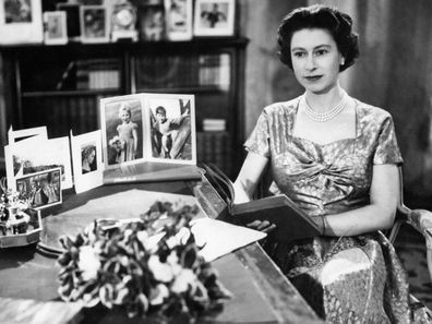 Queen Elizabeth delivers her first televised Christmas message, 1957