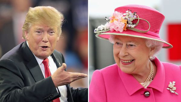 President Donald Trump and Queen Elizabeth II