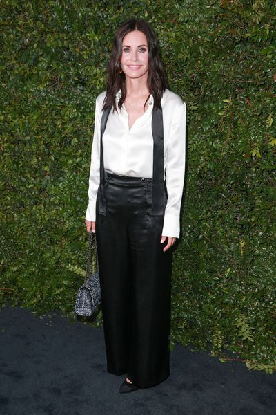 Actress Courteney Cox in Chanel