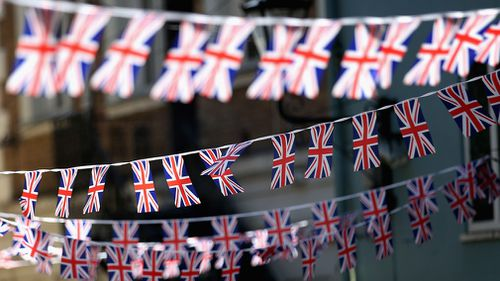 Windsor is filled with bunting. (Getty)