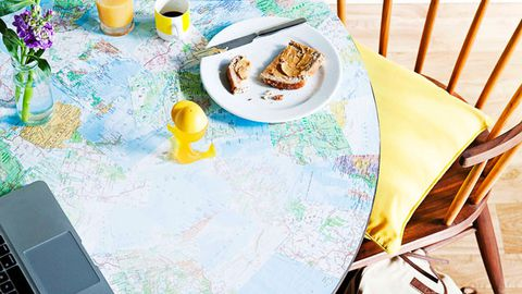 Mapped out table top