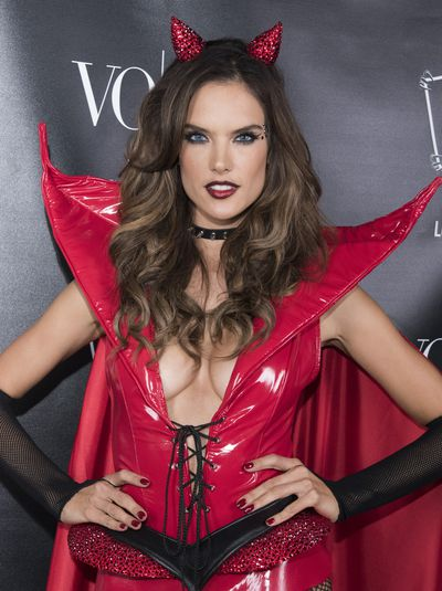 The devil wears latex. Model Alessandra Ambrosio.