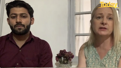 Emily McBurnie and her partner Faraz Khan - who is an emergency doctor - both live in the city of Delhi.