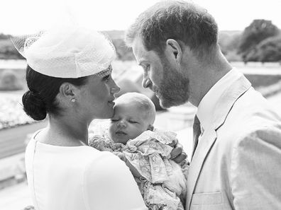 Meghan Harry Archie christening photo
