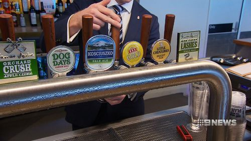 Most of the beer taps have been converted to the preferred tipple of Queenslanders: XXXX (9NEWS)