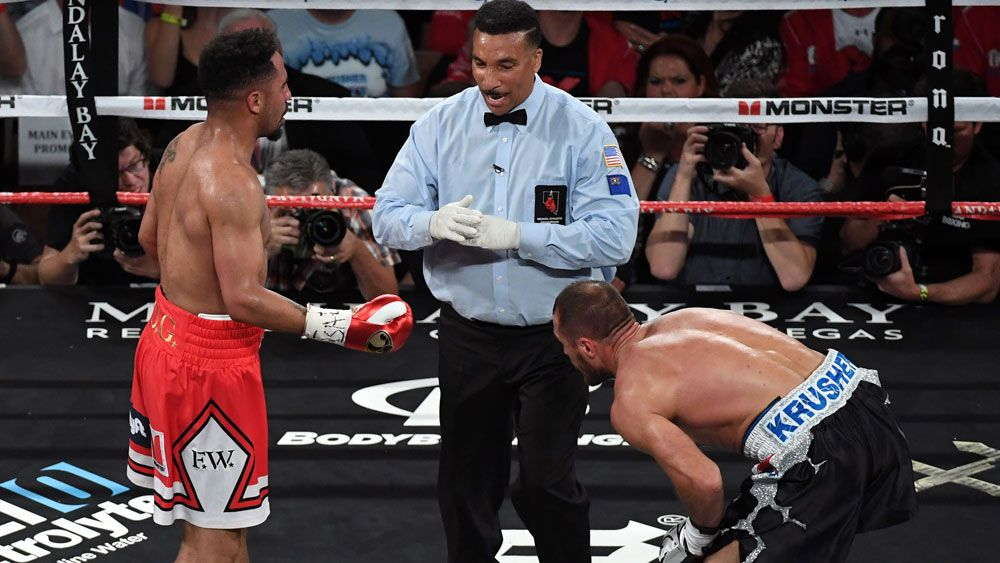 Andre Ward stops Sergey Kovalev in light heavyweight controversial boxing rematch