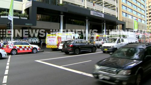 Up to 30 people are being treated after a hazardous chemical scare at the Pullman Sydney Hyde Park hotel. (9NEWS)