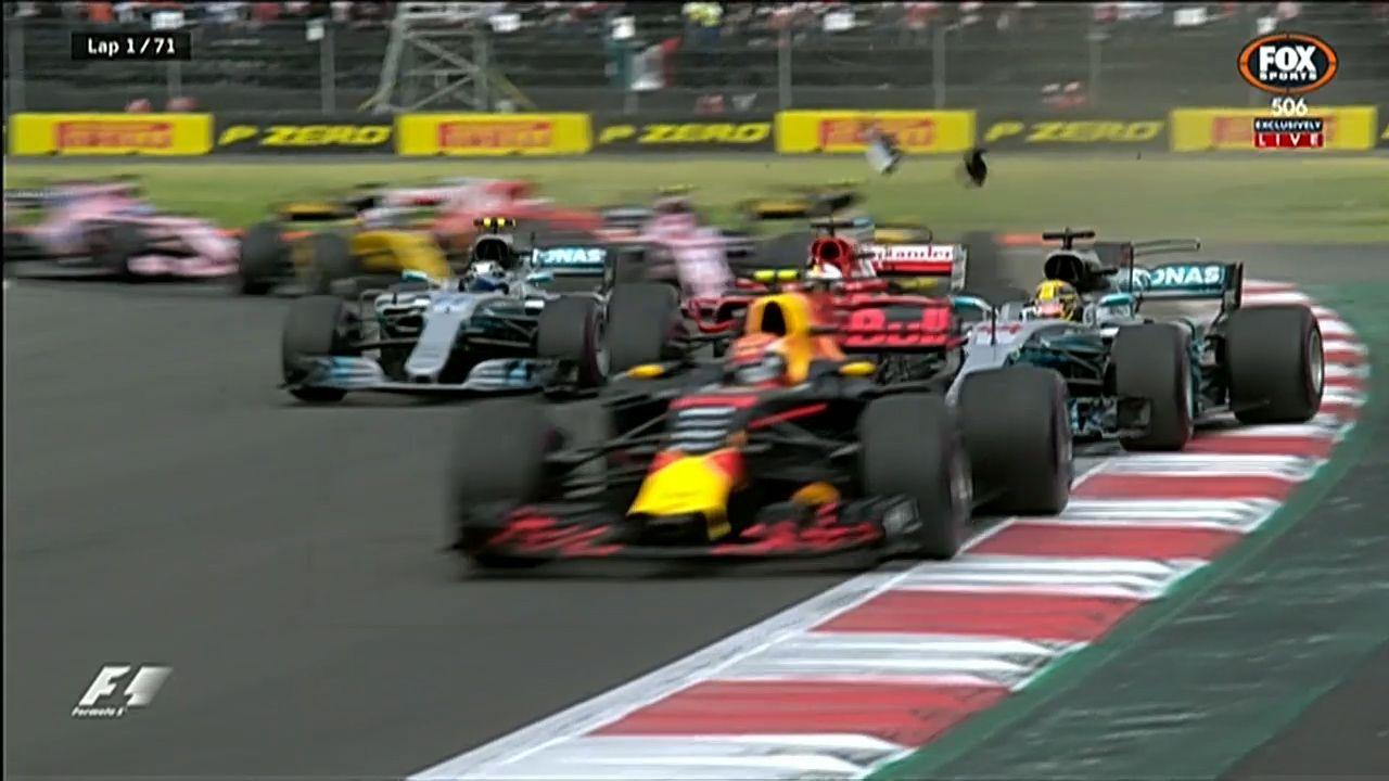 Hamilton and Vettel clash in Mexico Grand Prix