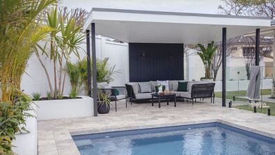 El'ise and Matt's renovation: Their backyard transformed into a tropical oasis