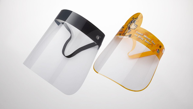 Qatar Airways safety face shields for adults and children