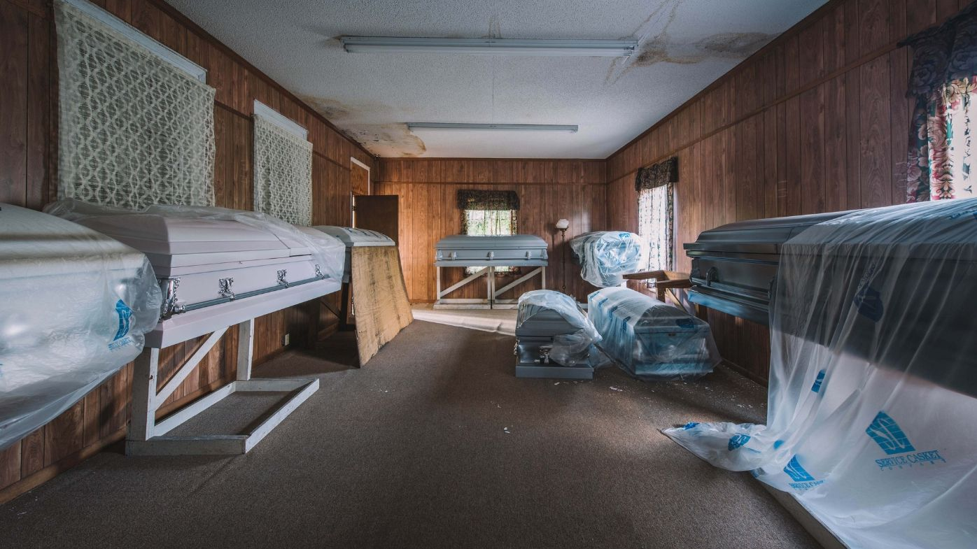 Abandoned funeral home USA