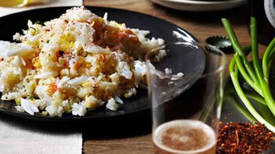 "Recipe: <a href=""http://kitchen.nine.com.au/2016/05/16/11/30/andrew-mcconnell-fried-rice"" target=""_top"">Andrew McConnell's Fried rice</a>"