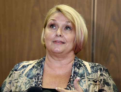 Samantha Geimer has hit out at what Quentin Tarantino said about her assault in a radio interview. (AAP)