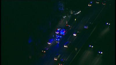 Traffic queued 10km after eight-car crash on Princes Freeway