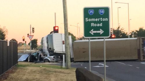 Four teens cut from wreckage of Melbourne truck crash