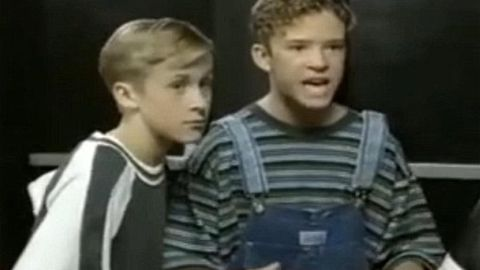 Justin Timberlake and Ryan Gosling Mickey Mouse Club
