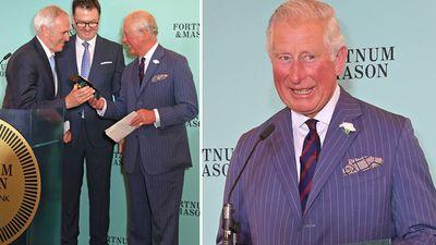 Prince Charles at the Fortnum & Mason Food and Drink Awards, May 2019