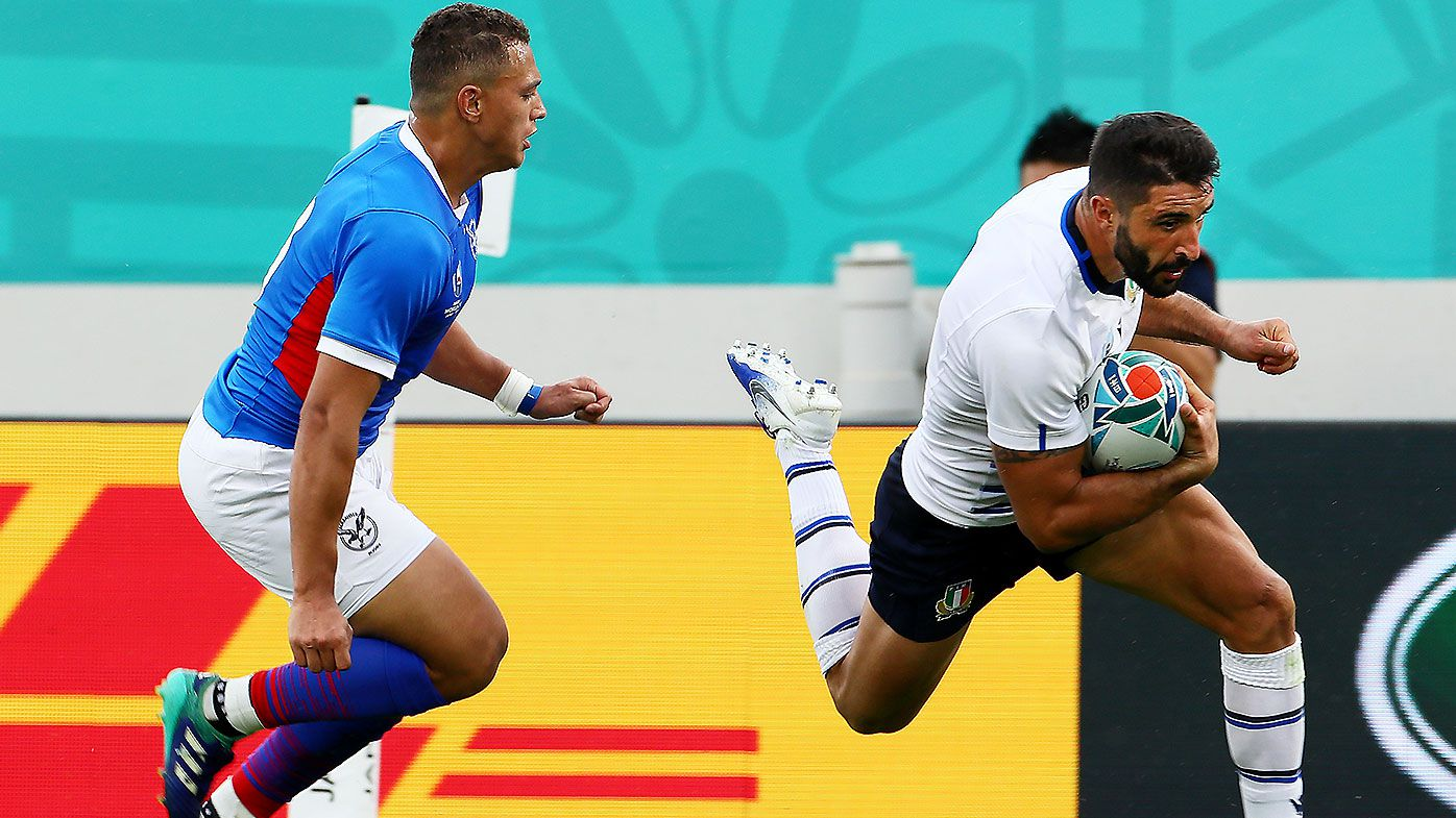 Italy use 10-minute burst to blow doors off plucky Namibia in Rugby World Cup opener