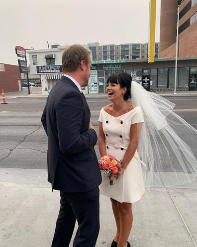 Lily Allen and David Harbour were married in Las Vegas.