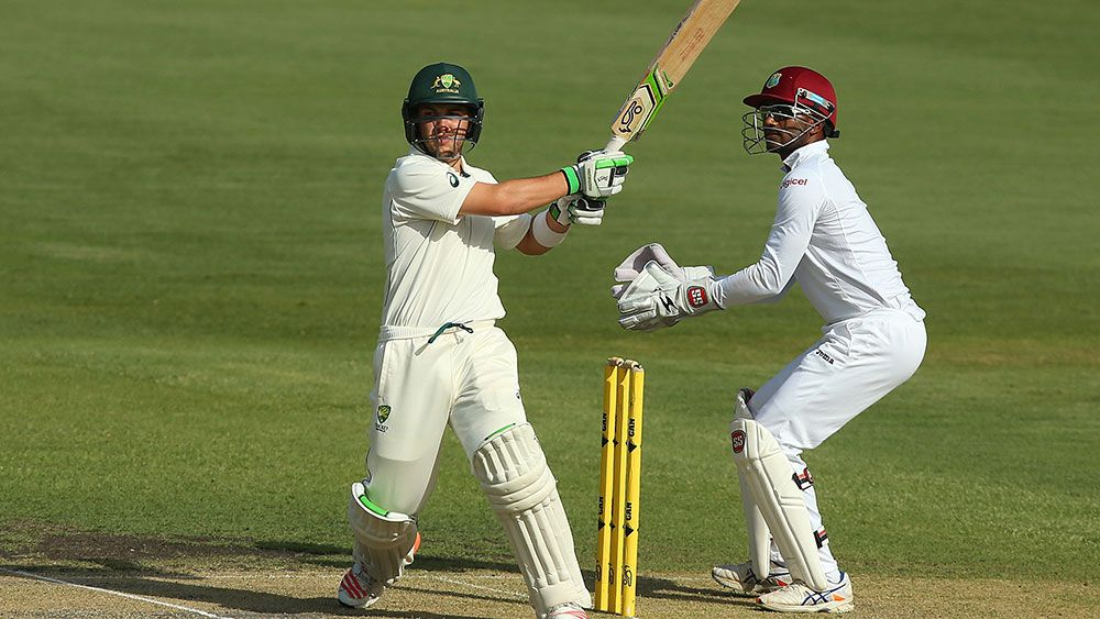 Josh Inglis despatches a ball to the boundary. (Getty)