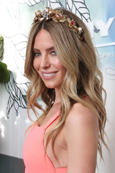"""<p>Myer ambassador Jennifer Hawkins was her usual polished perfection in Yeojin Bae at the Myer Spring Carnival launch but expect something different by the time Derby Day comes around.&nbsp;</p> <p>""""I'm really enjoying more relaxed silhouettes and the layered approach to dressing that is coming through this season,"""" Hawkins said.</p> <p>""""To be honest I haven't decided what I'm wearing yet, but that's what's floating in my head.""""</p> <p>On top of Hawkins' head it's equally hard to get the former Miss Universe to make a commitment. </p> <p>""""First of all headbands are not out, they're not going anywhere,"""" she says. """"Headbands are just too convenient.""""</p> <p>""""I would like to try something wide-brimmed with a bit of drama when I'm at the races,"""" says Hawkins.</p> <p>Her fellow Myer ambassador Kris Smith is more decisive when it comes to trends for men.</p> <p>""""The more formal, the better,"""" Smith says. """"I'm pretty British and pretty traditional when it comes to suits. I like a three-piece suit.""""&nbsp;</p>"""