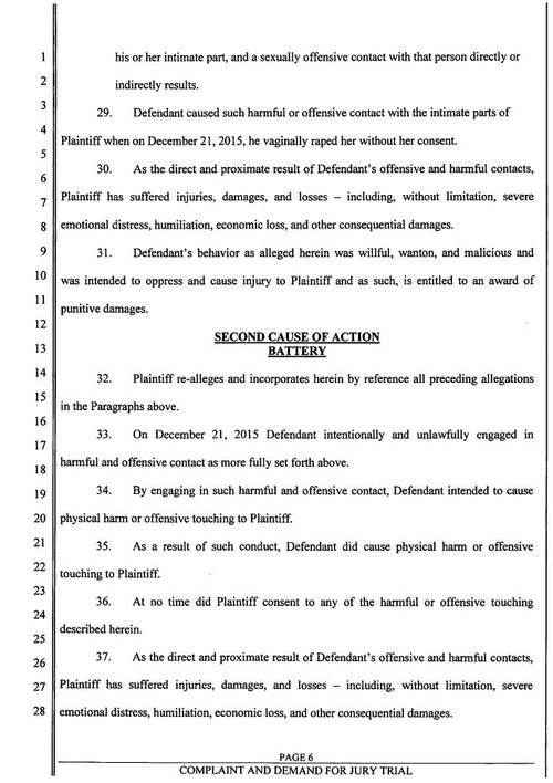 Page 6 of the civil suit document.