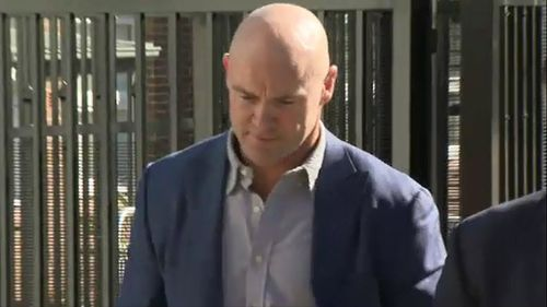 Former NRL star Ben Kennedy has escaped conviction over a drunken trespass. Picture: 9News