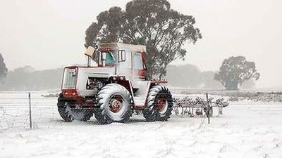 Ice cold in Laggan, NSW. (Photo: Storm Spotters Australia)