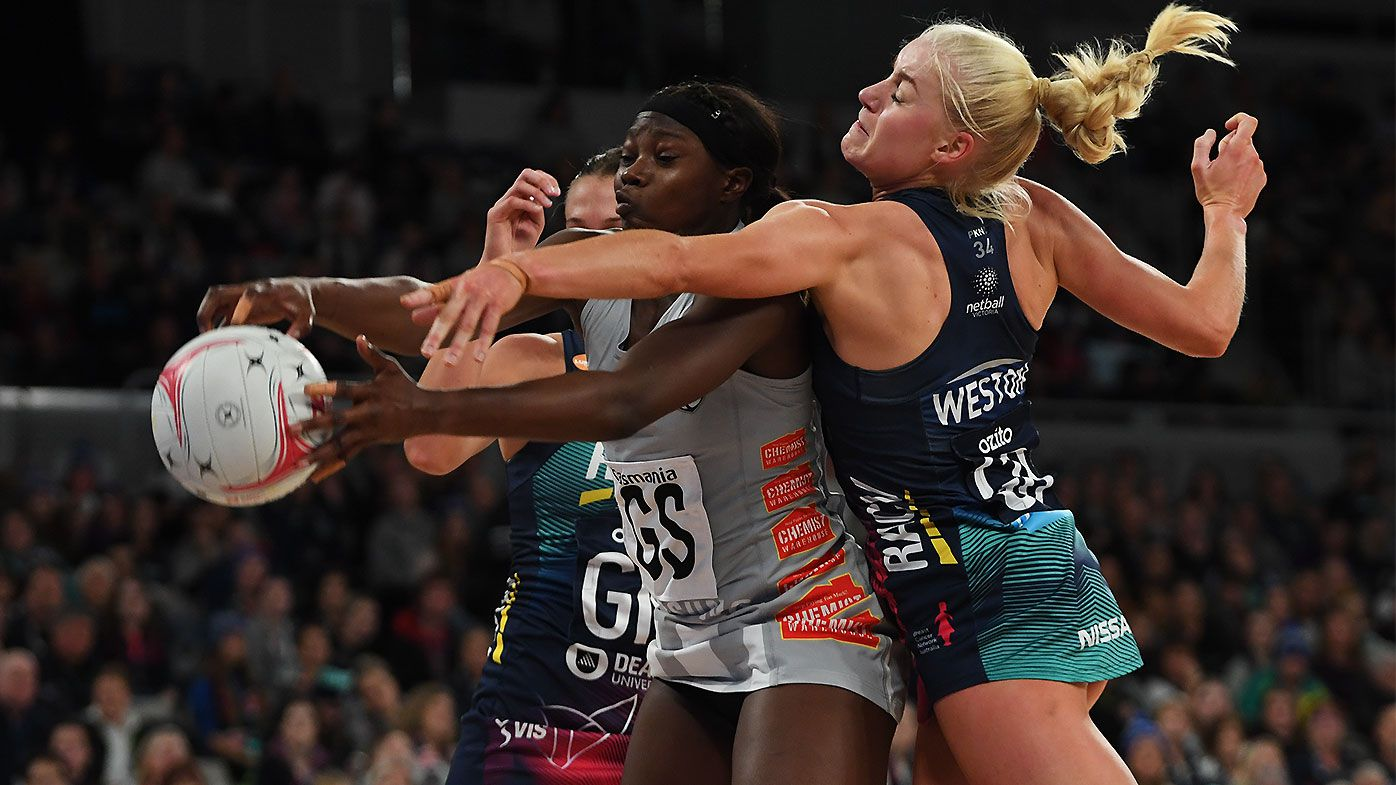 Shimona Nelson stars as Magpies shock Vixens in Super Netball derby