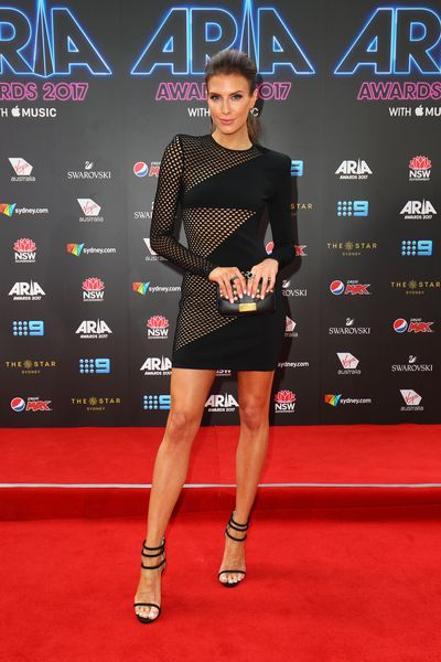 Singer, TV Host and Model Erin Holland at the 2017 ARIA Awards
