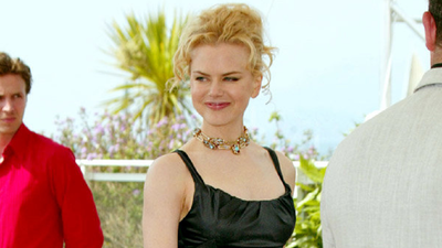 Kidman in a little back dress while promoting 'Dogville' in 2003.