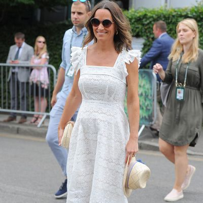 Pippa at Wimbledon, July 2018.