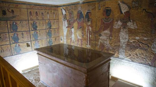 In an effort to protect the real tomb, a replica was built in 2014. Pictured, the interior of the facsimile of the Tomb taken from the viewing gallery. Photo©Ferdinand Saumarez Smith.