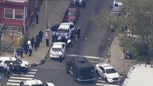 One police officer was reportedly shot in the head. Their condition is unknown.
