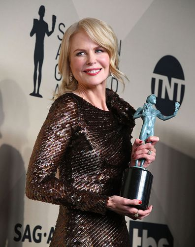 Nicole Kidman poses at the 24th Annual Screen Actors-Guild Awards at The Shrine Auditorium on January 21, 2018 in Los Angeles, California
