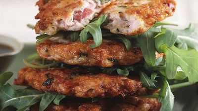 "Recipe:&nbsp;<a href=""http://kitchen.nine.com.au/2016/05/17/19/10/chicken-and-ham-patties"" target=""_top"">Chicken and ham patties<br /> </a>"