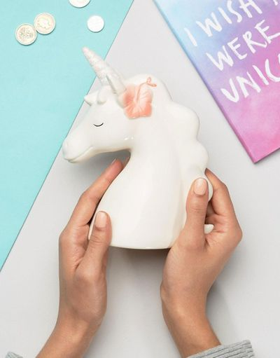 "<a href=""http://www.asos.com/au/new-look/new-look-unicorn-flower-moneybox/prd/8034865?iid=8034865&clr=White&SearchQuery=unicorn&pgesize=36&pge=0&totalstyles=48&gridsize=3&gridrow=3&gridcolumn=1"" target=""_blank"" draggable=""false"">Asos New Look Unicorn Flower Moneybox, $12.</a>"
