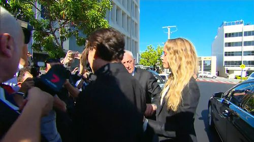 Ms Heard and Depp. (9NEWS)