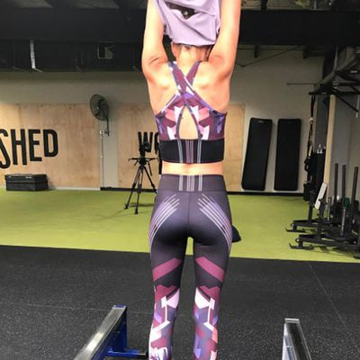 Bec Judd showed off her post-twin body while filming a new activewear ad