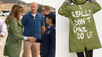 'No hidden message':  Melania slammed over 'tone deaf' jacket