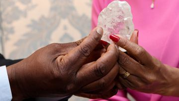 One of the world's largest diamonds has been unearthed in Botswana, the country's government has announced.