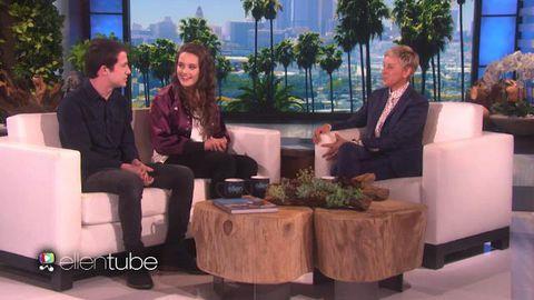 Ellen DeGeneres interviews Katherine Langford and Dylan Minnette