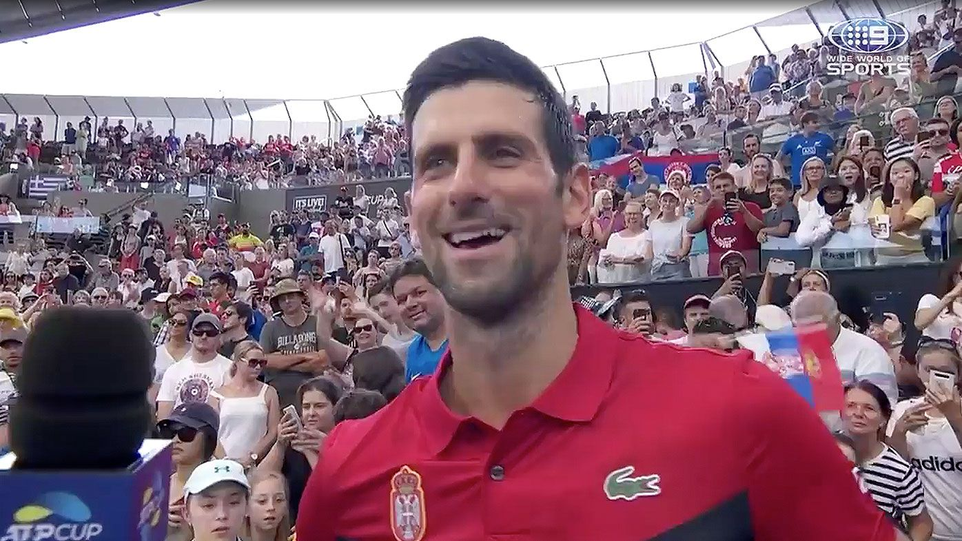 Novak Djokovic reveals Team Serbia play the card game Uno