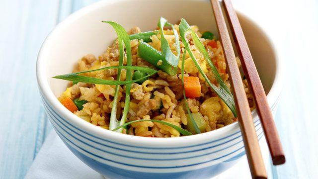 Pork fried rice for $7.60