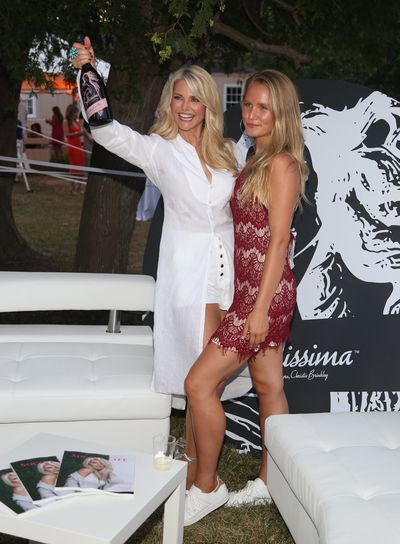 Christie Brinkley and daughter Sailor Brinkley Cook at the St. Barth Hamptons Gala , July, 2016