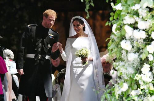 Prince Harry and Meghan Markle's royal wedding, steps of St George's Chapel