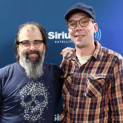 Steve Earle and Justin Townes Earle in 2017.